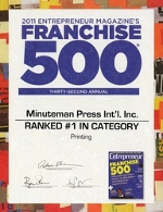 Entrepreneur Magazine's Franchise 500 Award 2011
