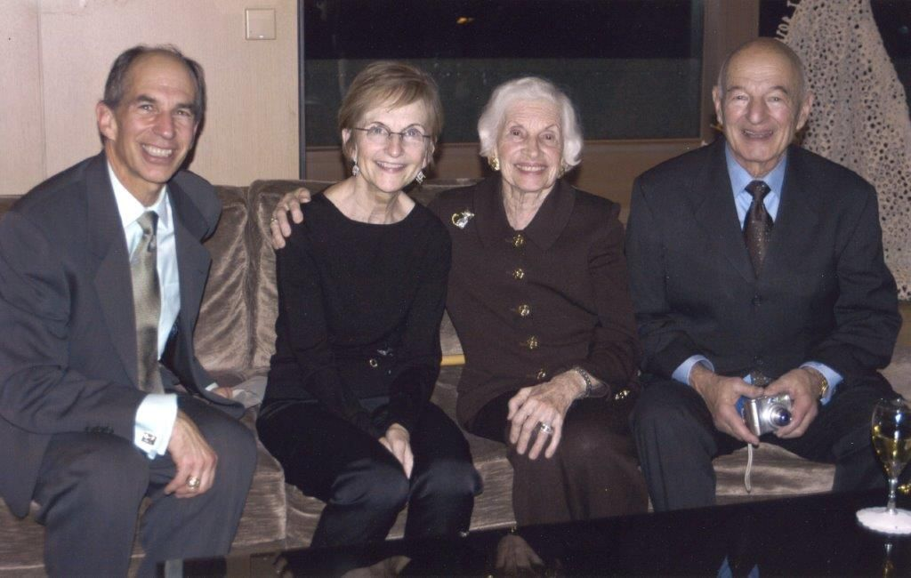 Justice Bridge and her husband Jon, with her mother- and father-in-law, Shirley and Herb.
