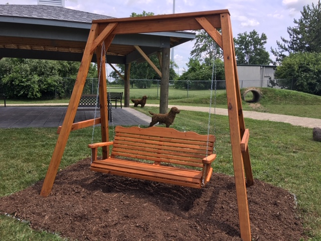 Pressure Treated Pine Lawn Swing by James Oldaker