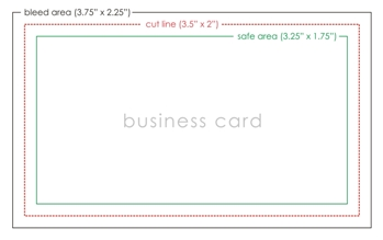 Business Card Bleed Template