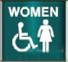 Framed Restroom Sign