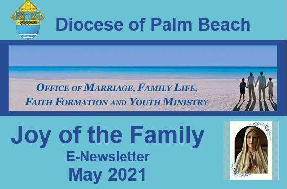 Joy of the Family e-Newsletter - May