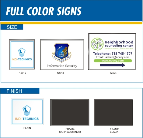 07 - Full Color Signs