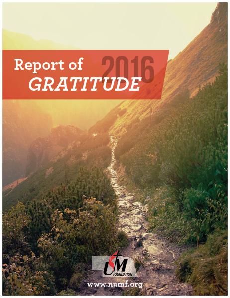 2016 Report of Gratitude