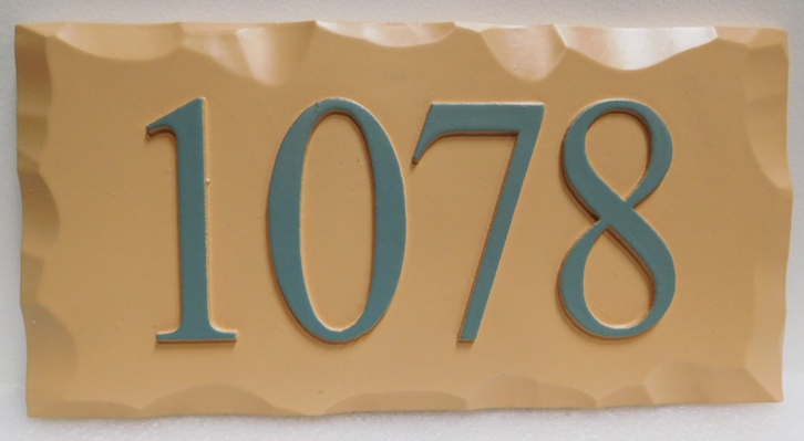 I18881 - Rustic Carved Address Number Plaque