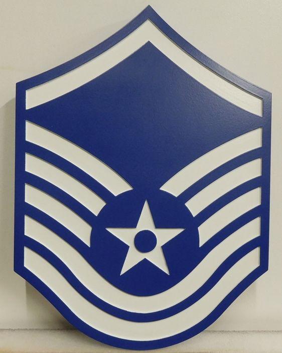 V31691 - Carved Insignia Plaque for an USAF  Master Sergeant (MSGT)