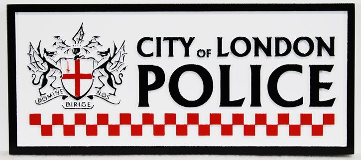 PP-3430 -Carved Plaque for the City of London Police, 2.5-D Artist-Painted