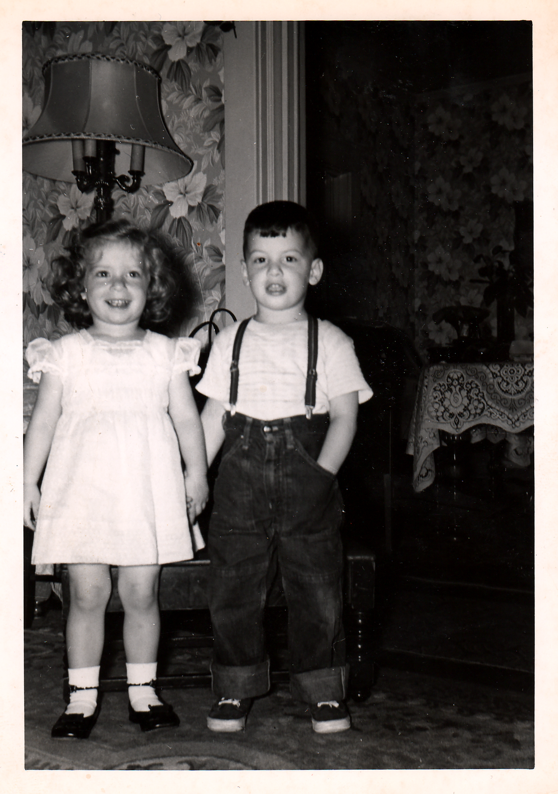 Doreen Alhadeff and her cousin Dale Cohen, 1955.