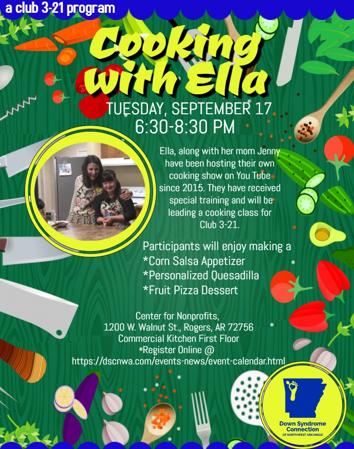 Cooking with Ella! Ages 18+ (Club 3-21 Program)