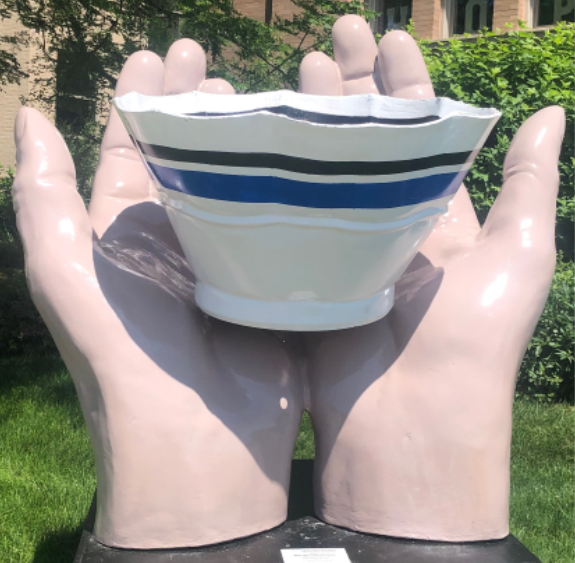 Matt Talbot Displays Serving Hands