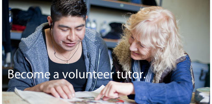 Become a volunteer tutor.