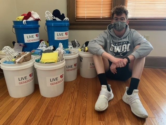 Springfield Teen Volunteers for Habitat of Greater Dayton During Pandemic.