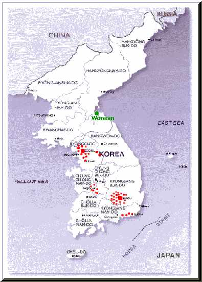 South Korea, Asia, Seoul Priory, map, benedictine sisters, missionaries