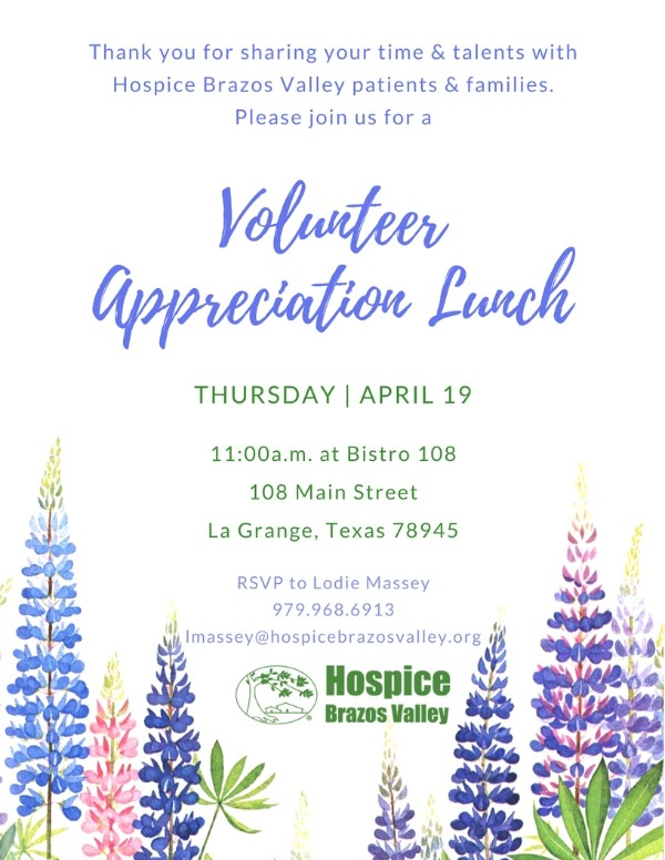 La Grange Volunteer Appreciation Lunch