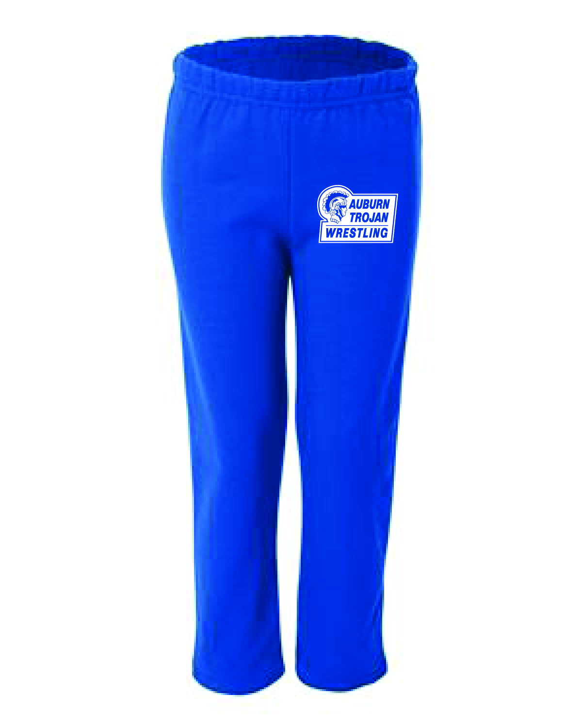 WRESTLING Gildan - Heavy Blend™  Open-Bottom Sweatpants  (MENS BLUE) LIMITED INVENTORY!