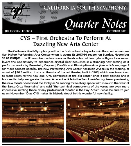 October 2013 Quarter Notes