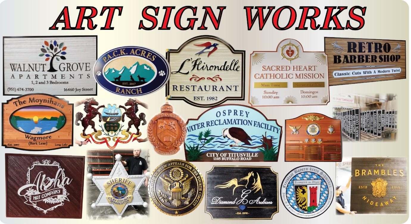 Recent Signs and Plaques Designed and Fabricated