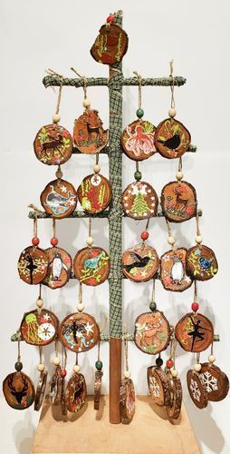 Plum Branch Ornaments $15