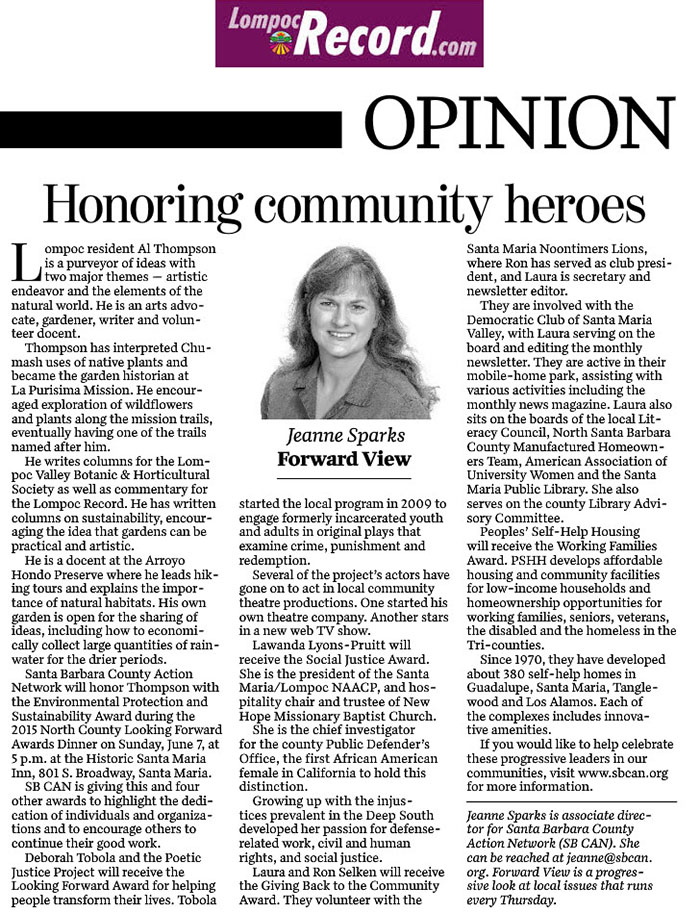 Honoring Community Heroes - Lompoc Record