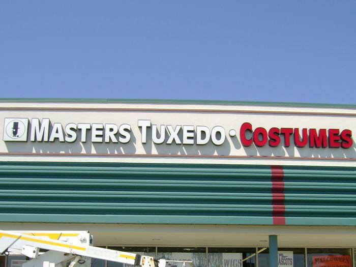 Masters Tuxedo Storefront Sign
