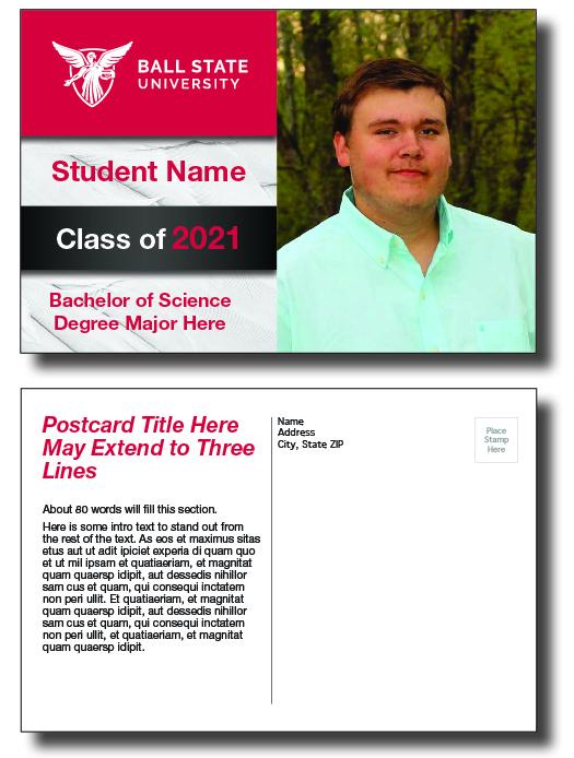 Graduation Postcard Design 1C