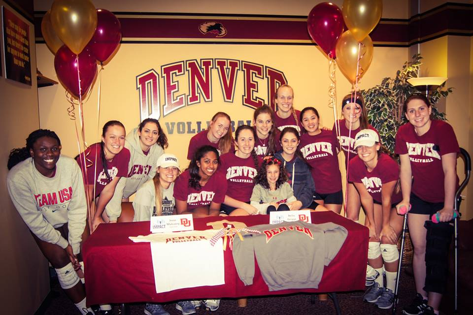 DU Volleyball stands up for smallest teammate