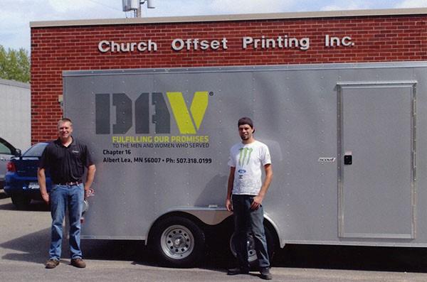 DAV Trailer Gets New Signage