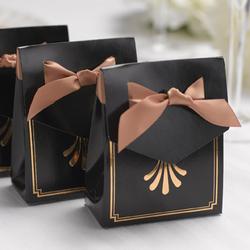 Art Deco Tent Favor Boxes- Gold