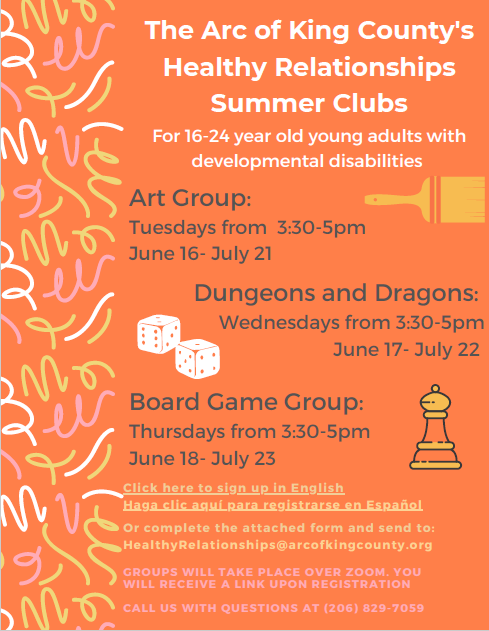 Healthy Relationships Summer Clubs (ages 16-24) Art Group