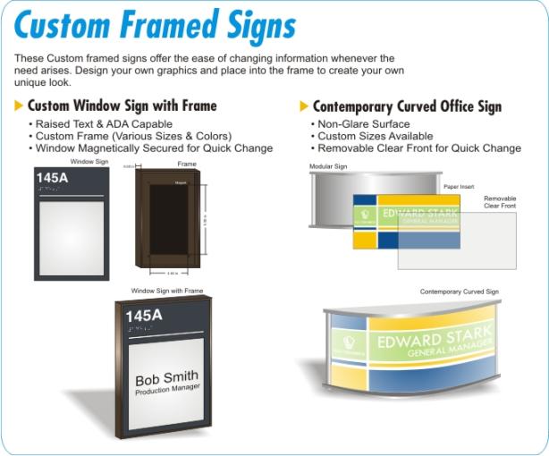 Changeable Office Door Signs