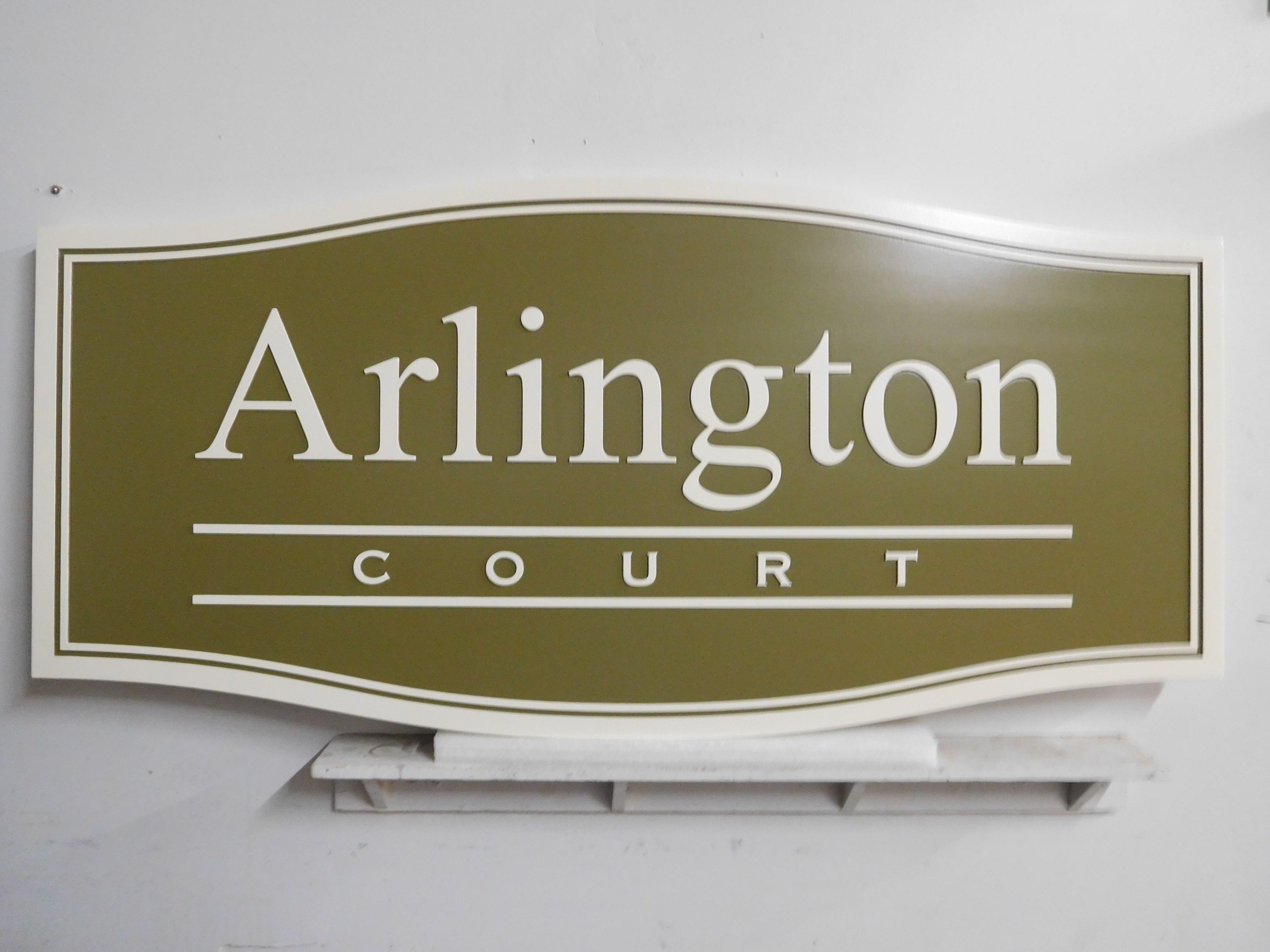 "M5226 - Carved 2.5D HDU  ""Arlington Court"" Condo Sign"
