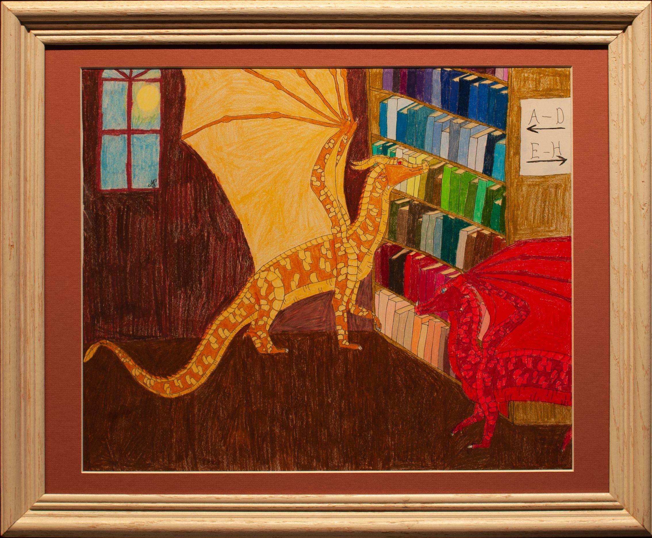 """""""Dragon's Library"""" Mia Simon"""