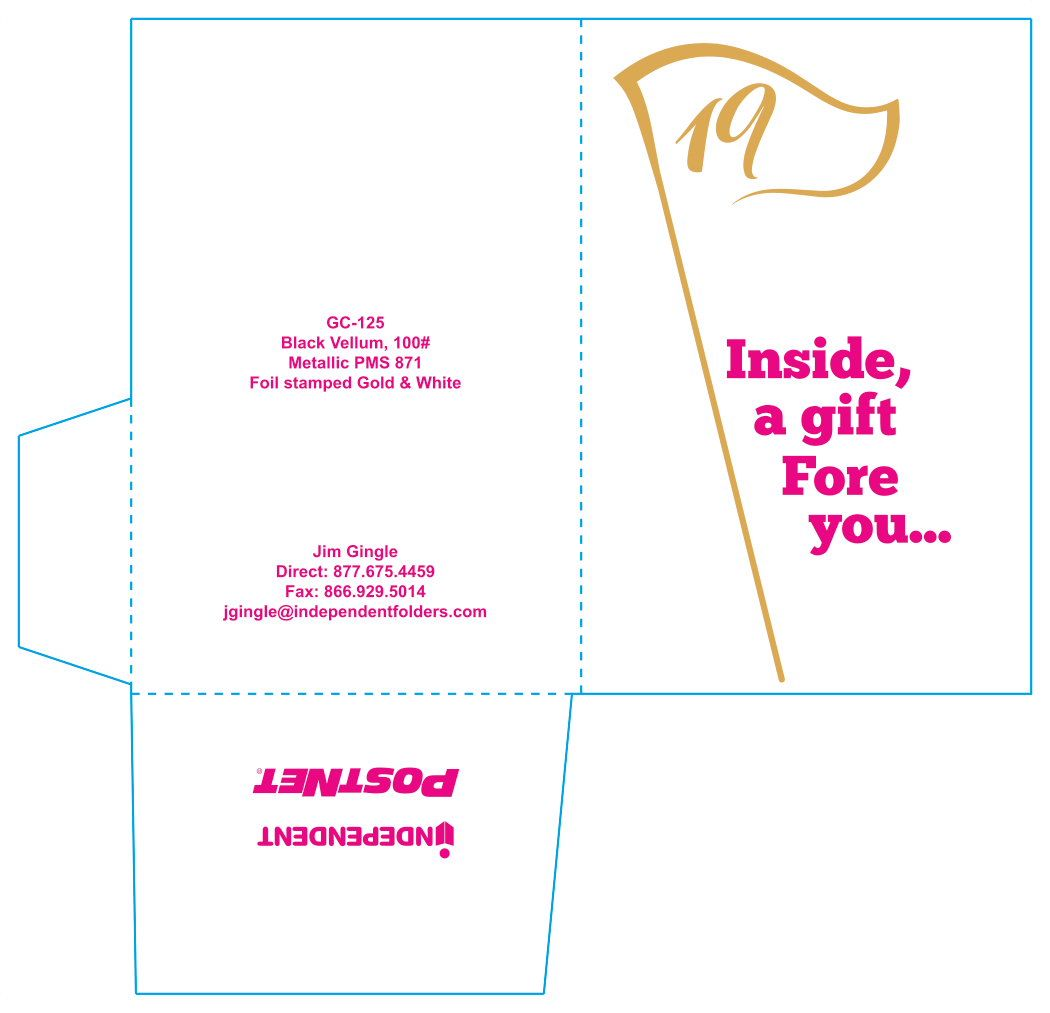 19th Hole Gift Card Carrier