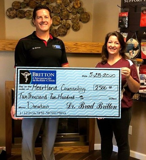 Britton Chiropractic & Rehab Promotes Mental Health with Physical Health while Supporting Heartland Counseling Services