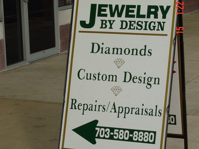 Jewelry by Design Yard Sign