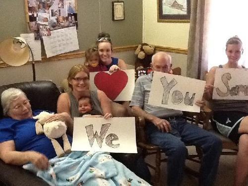 Love from Iowa - Grandpa & Grandma Lampe, Cousins Jill, Max, Allison, Molly, & Amanda