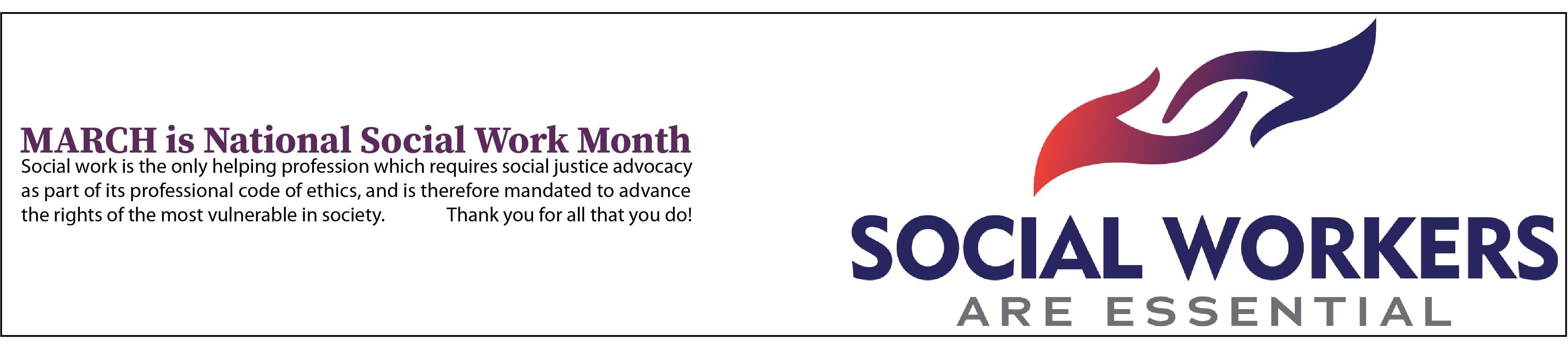 National Social Work Month - March
