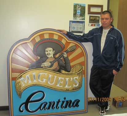 M2400 - Mexican Cantina Carved Sign