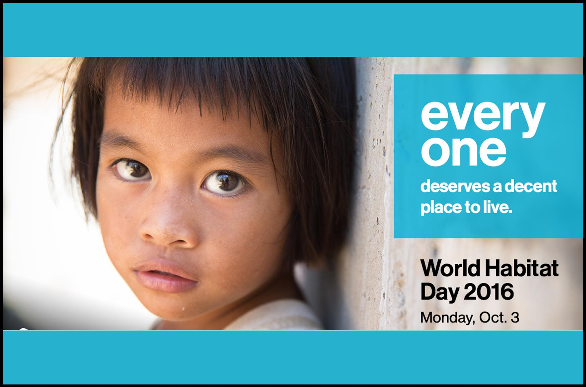Make a donation in honor of World Habitat Day