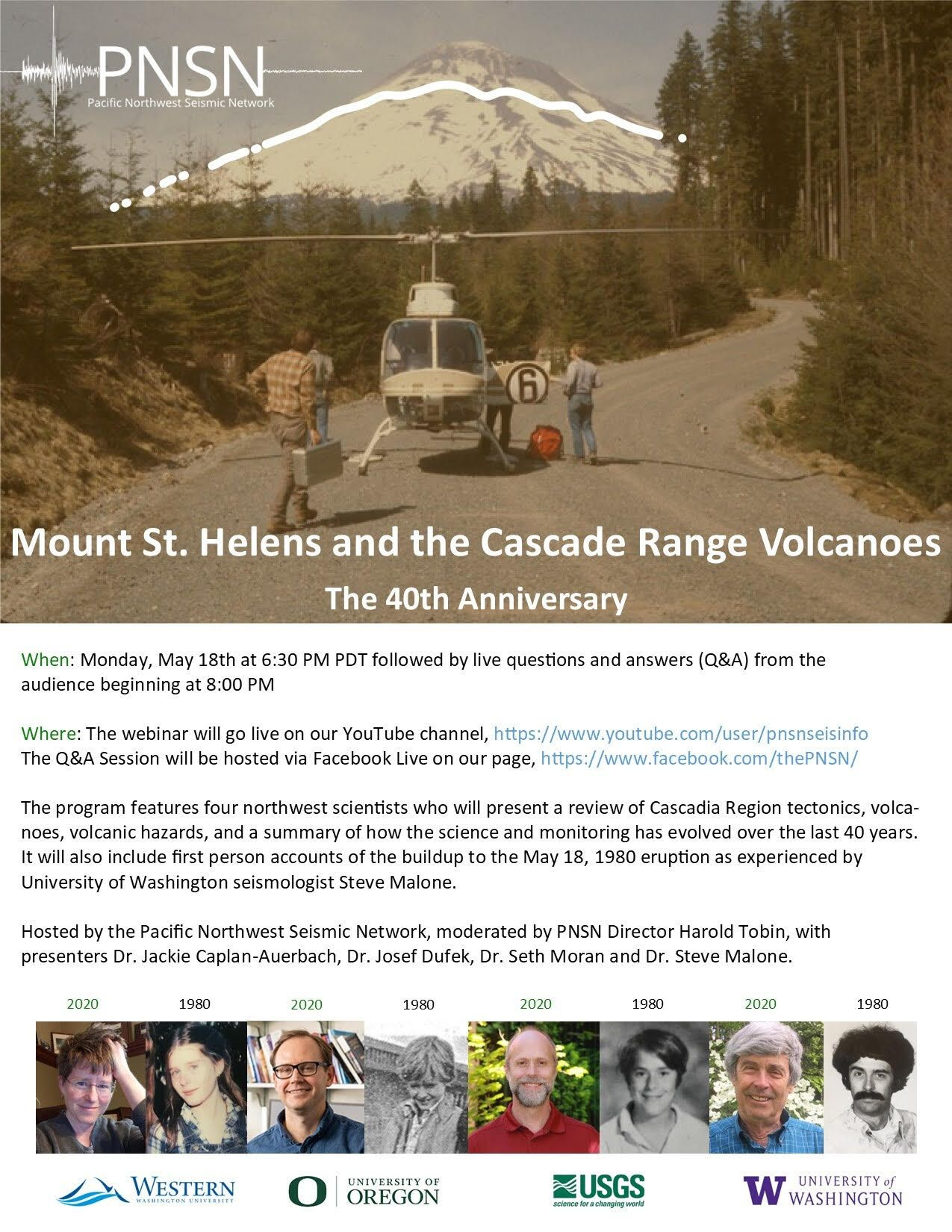 Mount St. Helens and the Cascade Range Volcanoes