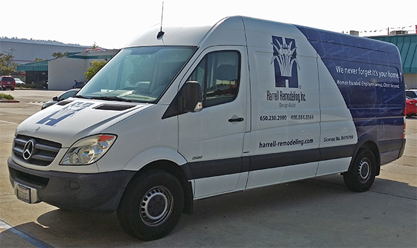 Transit Van partial wrap