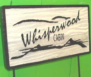 M22218 - Sandblasted Redwood Sign, Painted