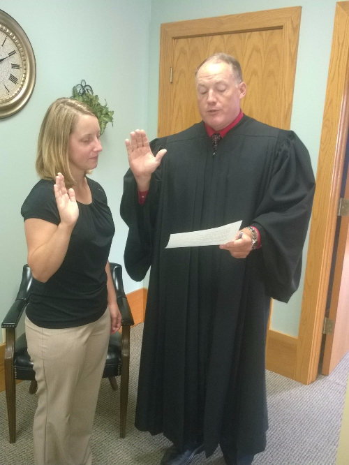 Advocate Swearing-in with Juvenile Judge