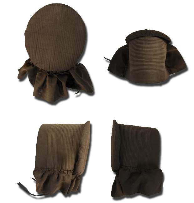 Bonnet (Amish), maker unknown, made in the United States, circa 1925-1950, IQSCM 2004.008.0002