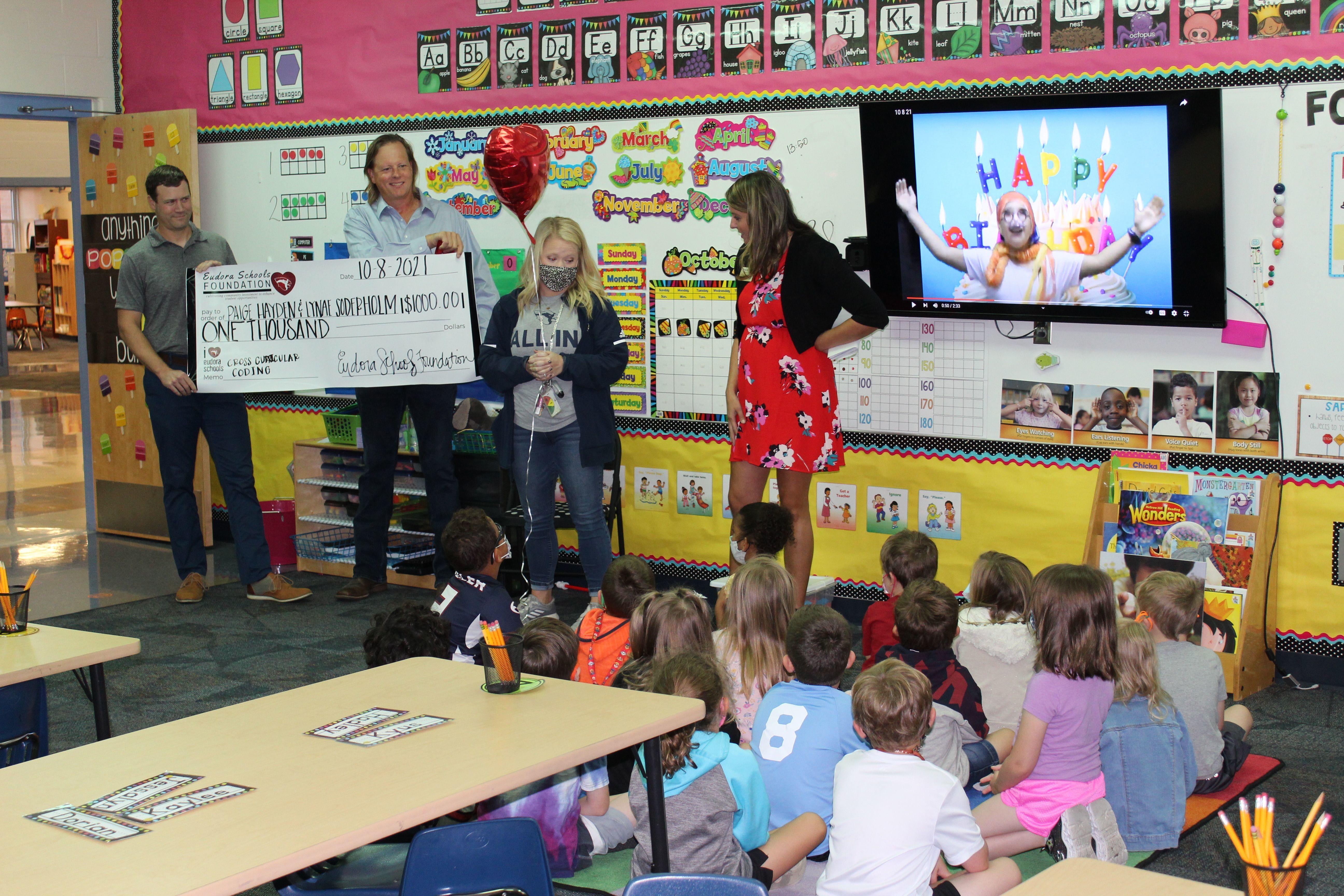EES teacher Mrs. Hayden receives classroom grant from Eudora Schools Foundation 2021