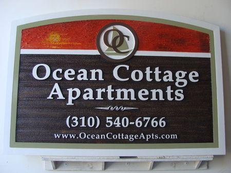 L21932- Carved HDU Ocean Apartment Cottage Apartment Entrance Sign