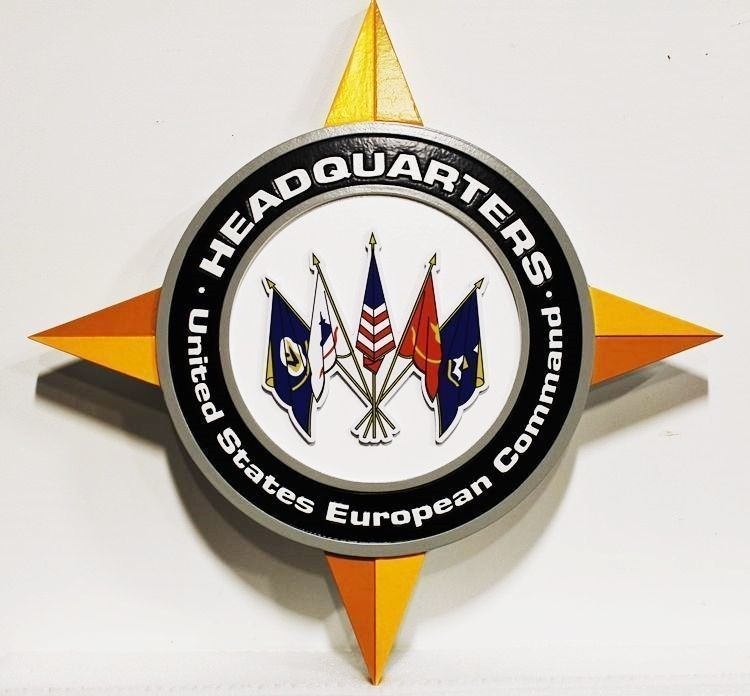 V31720 - Carved 2.5-D Plaquefor  the Headquarters of the United States European Command