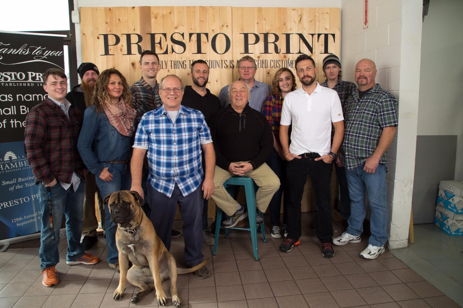 Presto print staff photo