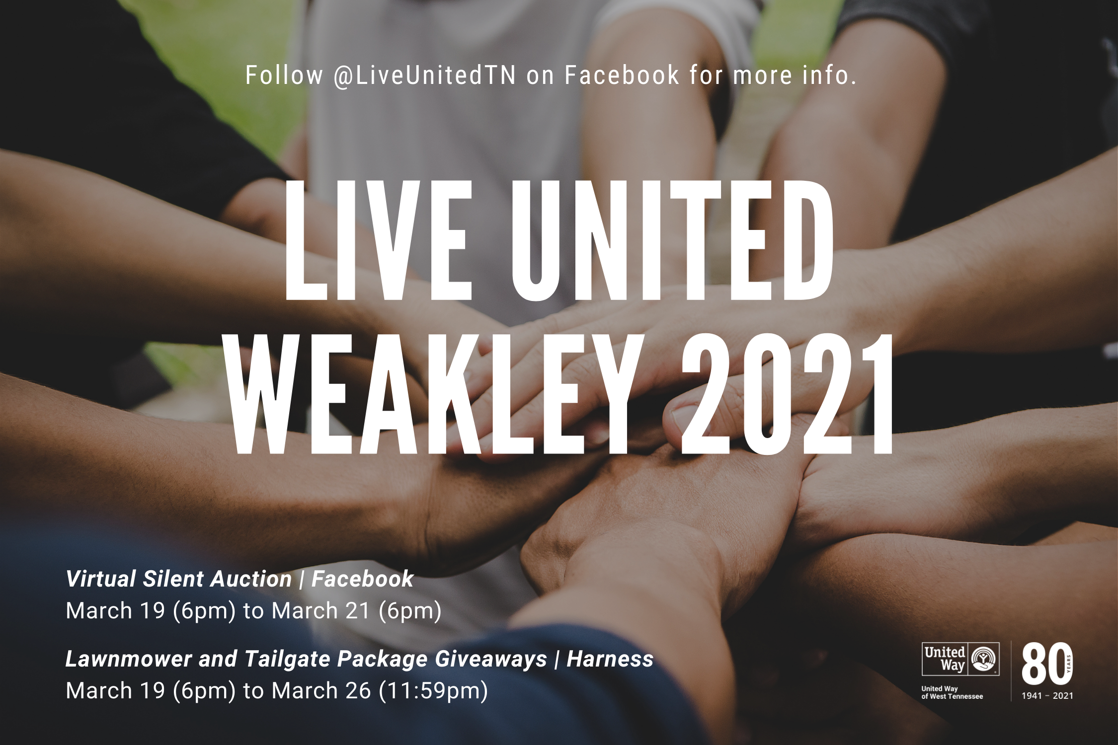 LIVE UNITED Weakley County: 2021 Virtual Silent Auction and Major Giveaways