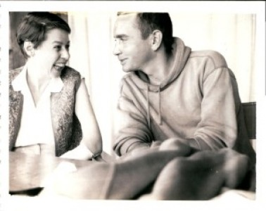 Carson McCullers and playwright Edward Albee on Fire Island